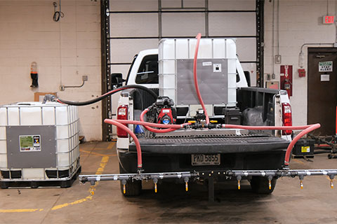 Self Apply Dust Control Custom 1500 Portable Sprayer with EnviroKleen Midwest