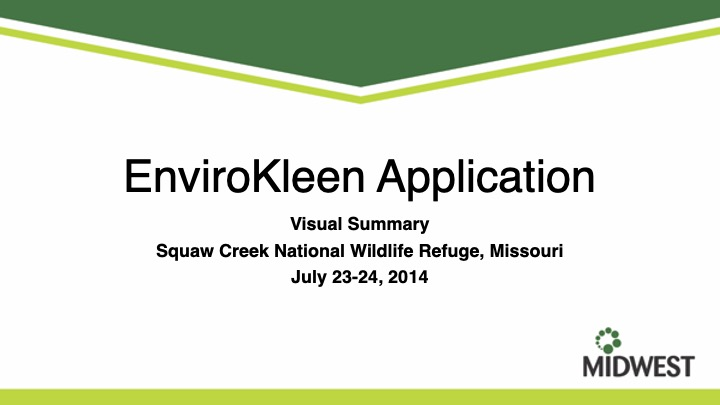 Visual Project Summary Squaw Creek 2014 Wetlands Erosion Control Midwest 01